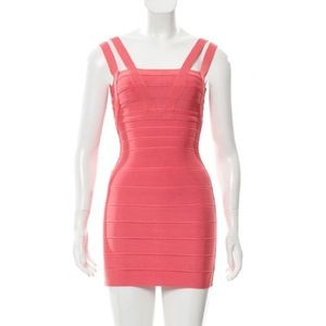 "Herve Leger ""Oria"" Double Strap Bandage Dress"